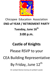 CEA Retire Party Flyer 2015